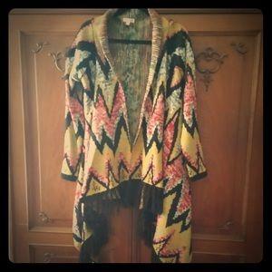 Kimono style sweater jacket